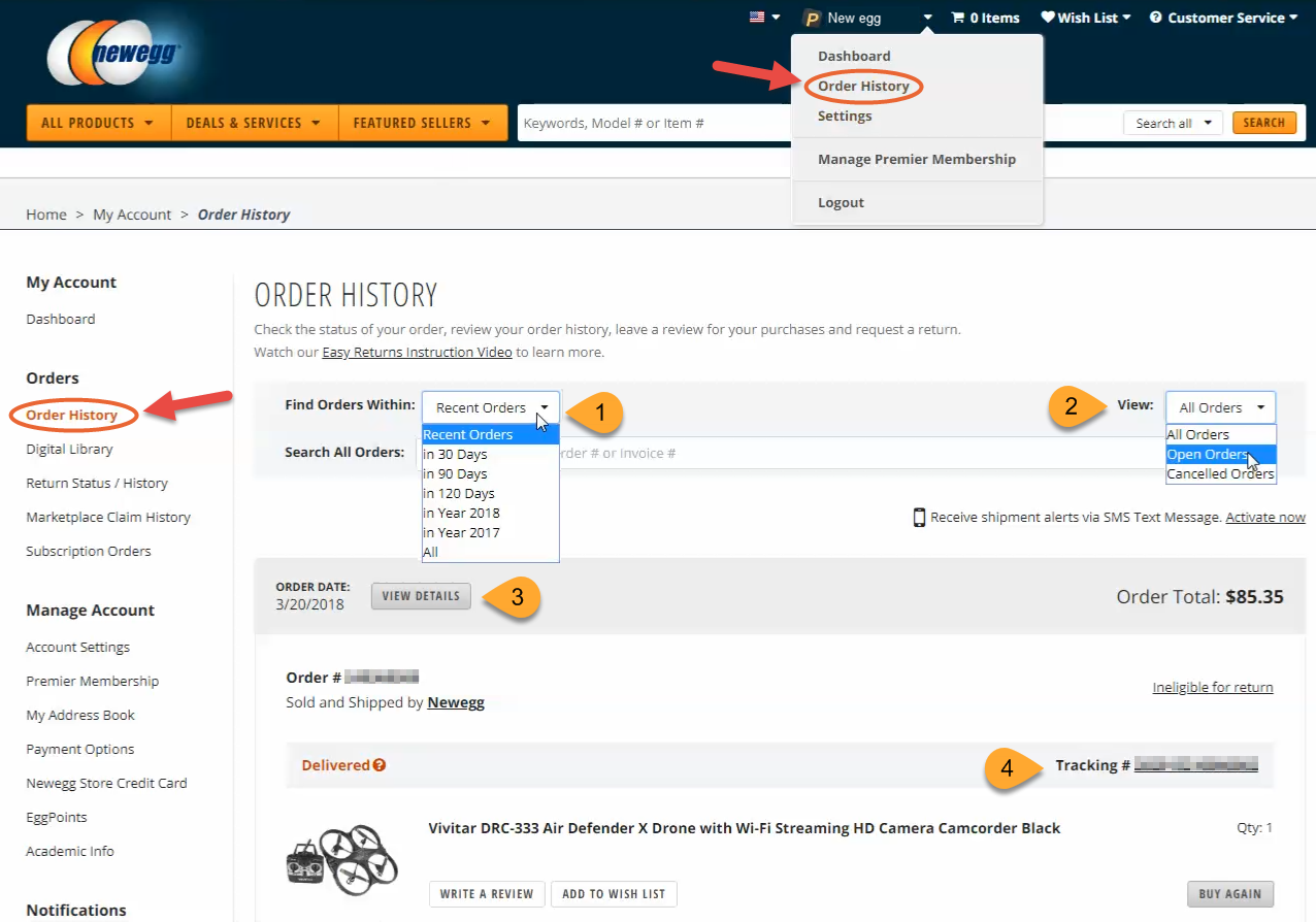 How To Check The Status Of An Order Newegg Knowledge Base