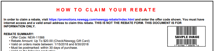 mail-in rebates – newegg knowledge base